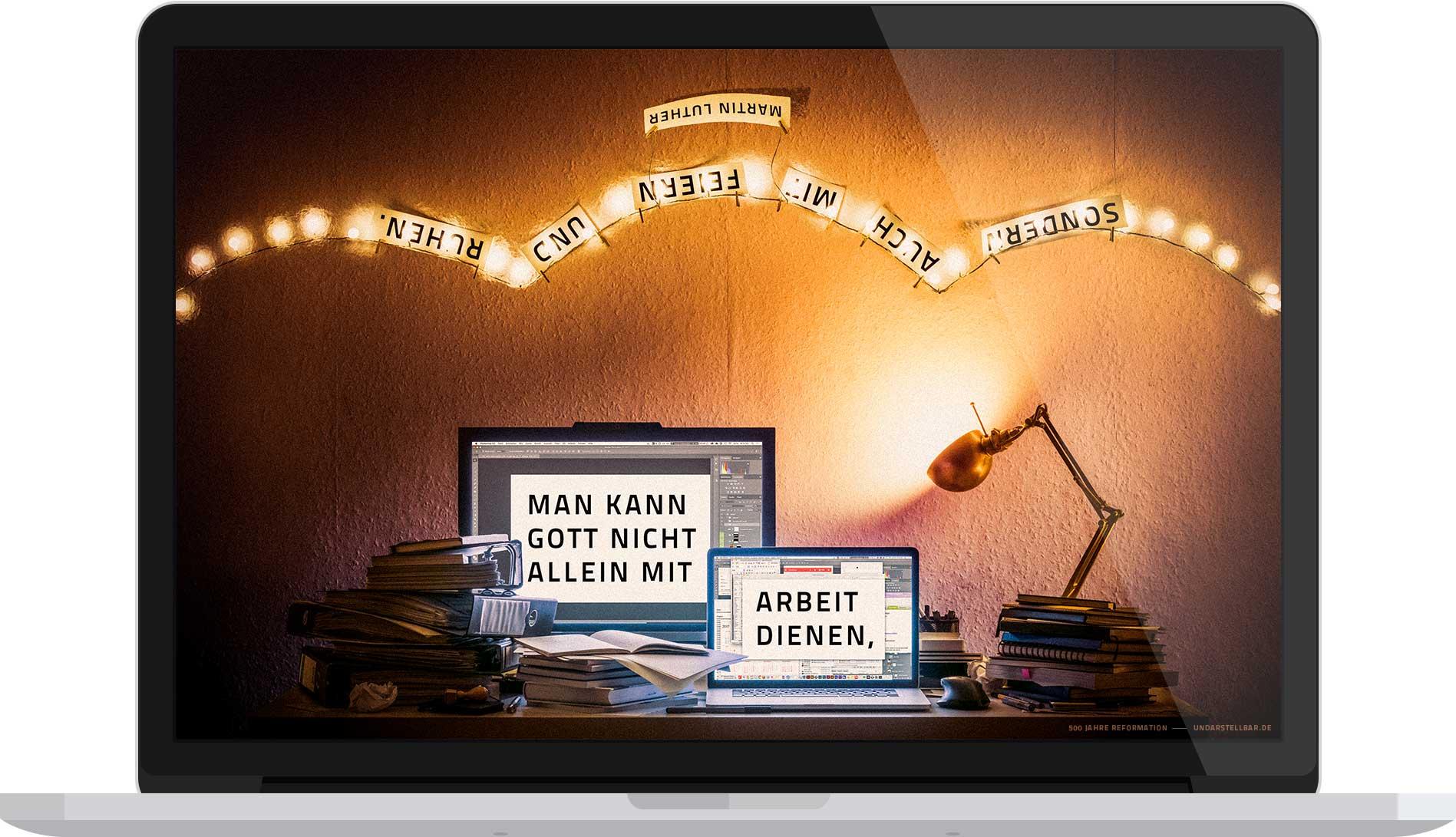 Kostenloser Download 500 Jahre Reformation — Zitat von Martin Luther — undarstellbar