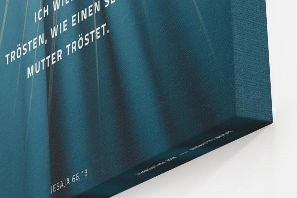 Jahreslosung 2016 Closeup Leinwand Ecke undarstellbar