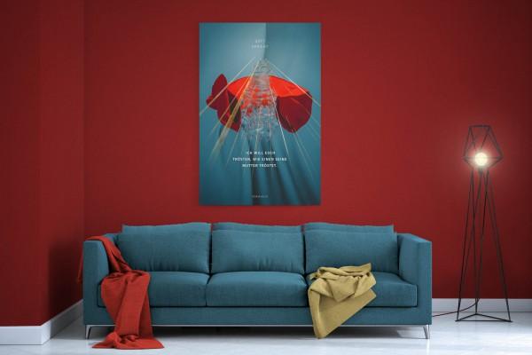 Jahreslosung 2016 undarstellbar Leinwand fürs Wohnzimmer