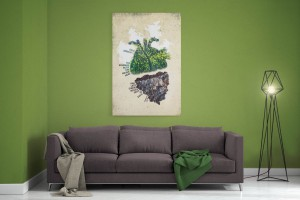 Jahreslosung 2017 undarstellbar Leinwand fürs Wohnzimmer
