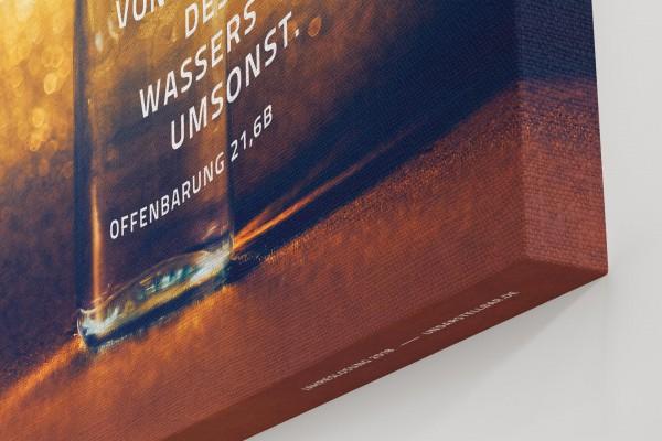 Jahreslosung 2018 Closeup Leinwand Ecke undarstellbar