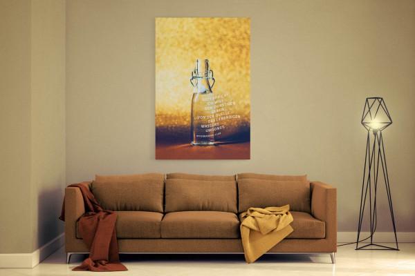 Jahreslosung 2018 undarstellbar Leinwand fürs Wohnzimmer
