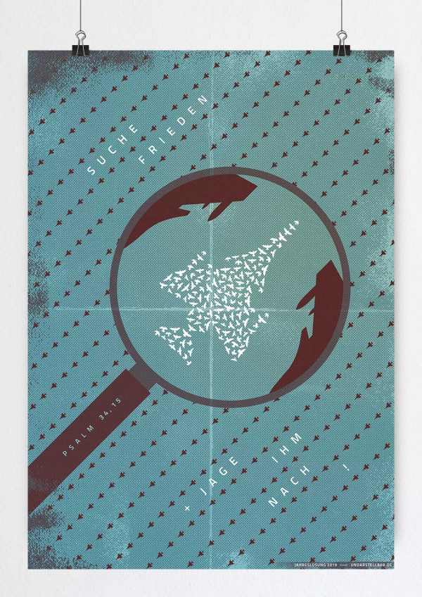 Jahreslosung 2019 Poster DIN A4, A3, 50x70, A1, 70x100, A0 von undarstellbar