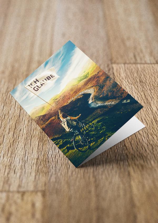 Jahreslosung 2020 als Faltkarte / Grußkarte / Doppelkarte / aufklappbare Postkarte / Klappkarte von undarstellbar.de Titel