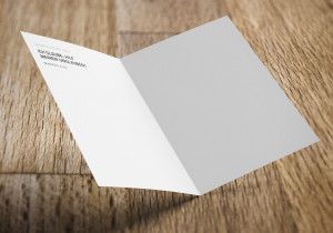 Jahreslosung 2020 als Faltkarte / Grußkarte / Doppelkarte / aufklappbare Postkarte / Klappkarte von undarstellbar.de Innenseite