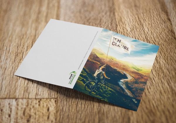 Jahreslosung 2020 als Faltkarte / Grußkarte / Doppelkarte / aufklappbare Postkarte / Klappkarte von undarstellbar.de Rückseite