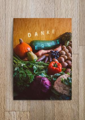 Danke Ernte Postkarte