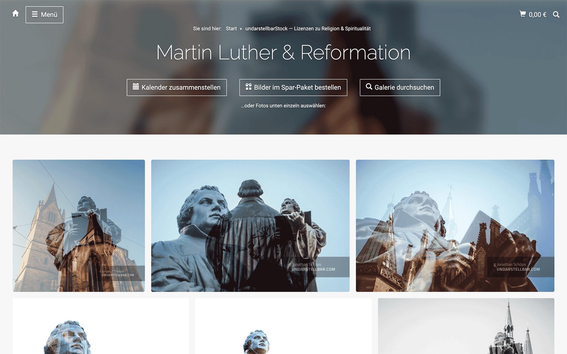 undarstellbar.com Shop Stockfoto Lizenzen – Martin Luther und Reformation