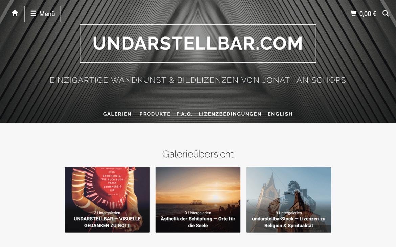 undarstellbar.com Shop für Wandkunst und Lizenzen