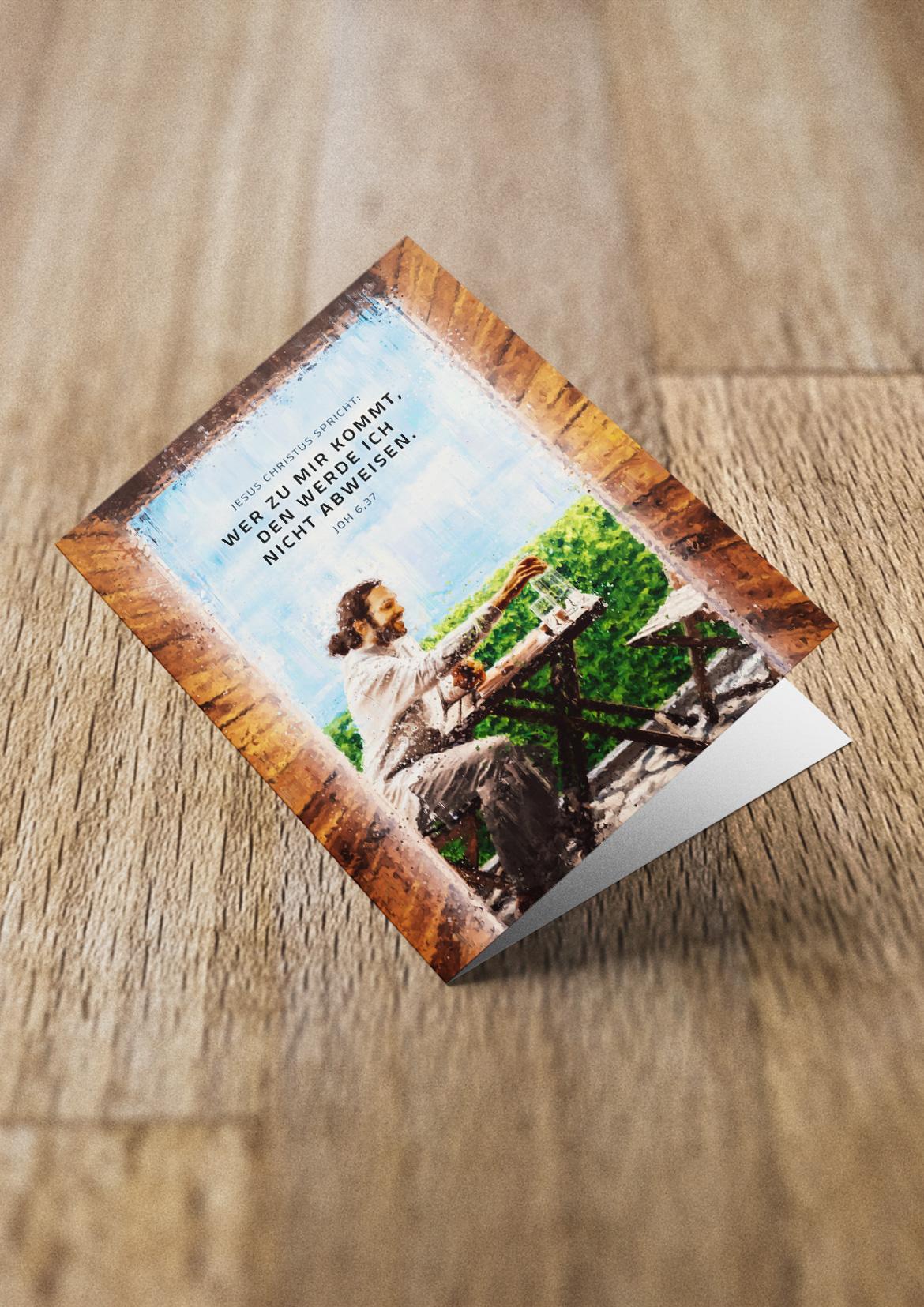 Jahreslosung 2022 Faltkarte, Grußkarte, Doppelkarte, Falzkarte