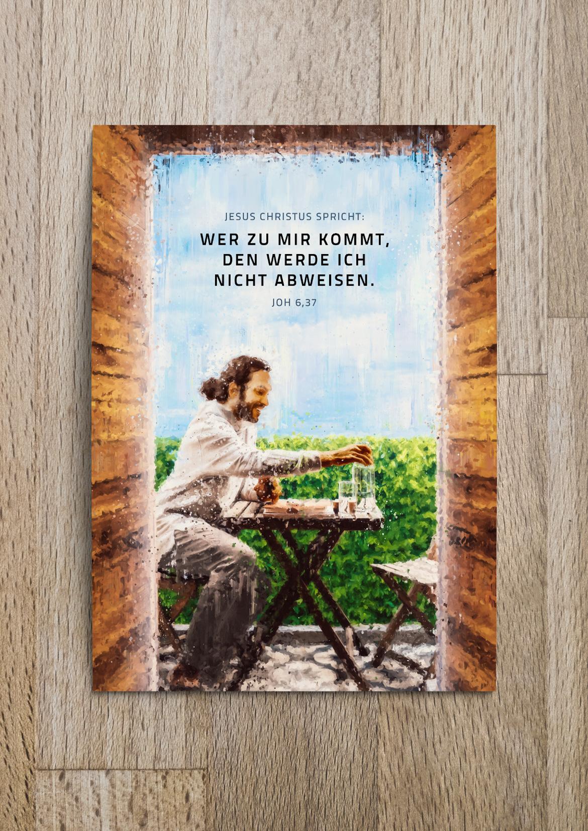 Jahreslosung 2022 Postkarte bestellen von undarstellbar   Jonathan Schöps. Versandkostenfrei