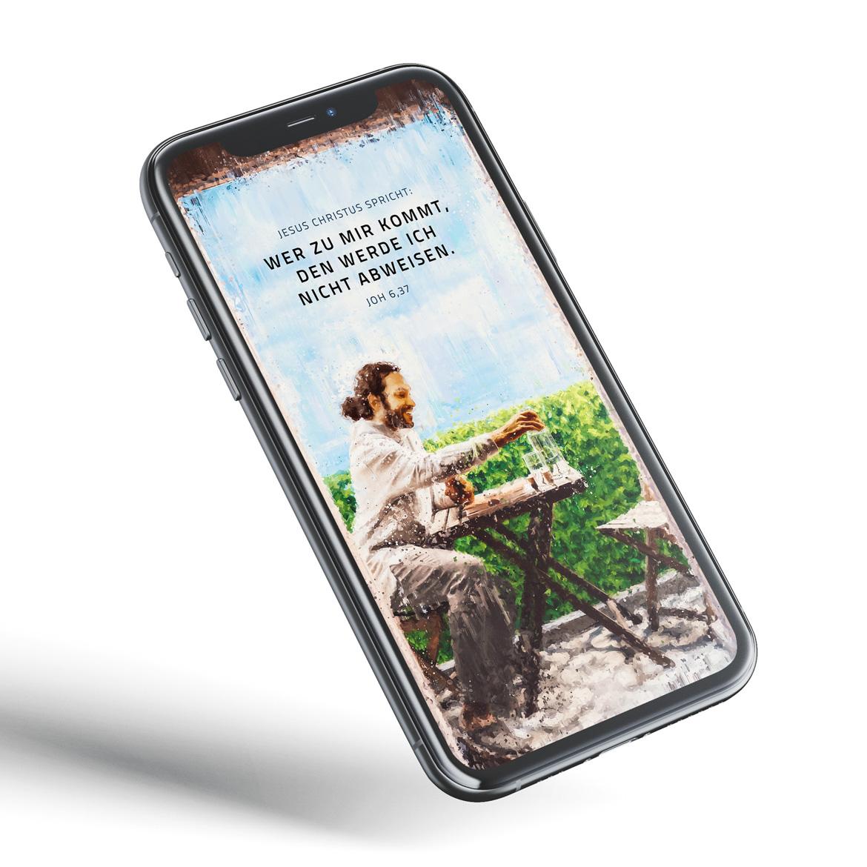 Jahreslosung 2022 kostenloses Bildschirmhintergrund Wallpaper Download Smartphone hochformat